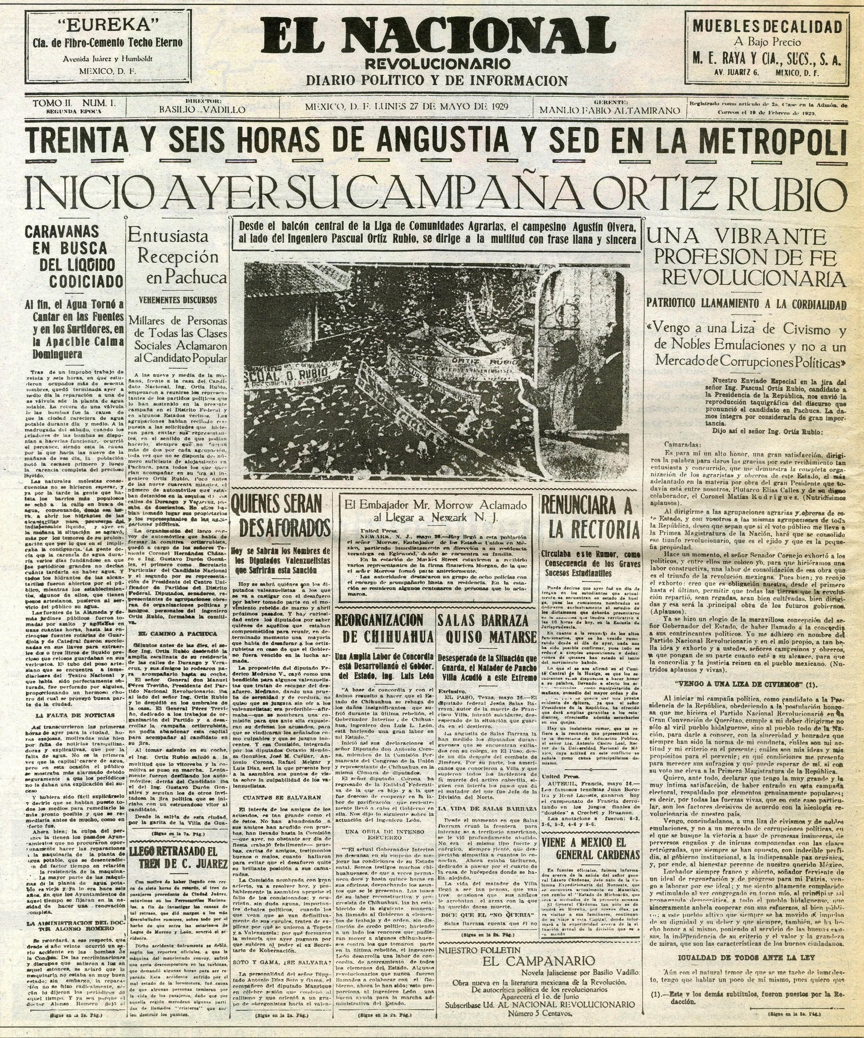 85º Aniversario De La Fundacion De El Nacional